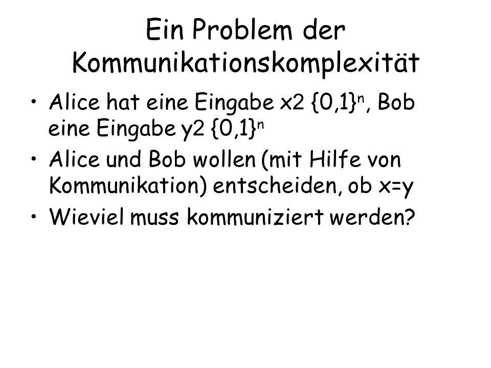 Ein Problem der Kommunikationskomplexität