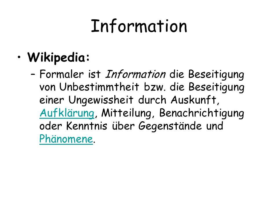 Information Wikipedia:
