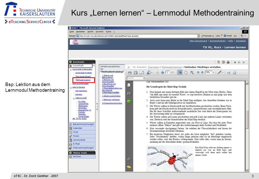 "Kurs ""Lernen lernen – Lernmodul Methodentraining"