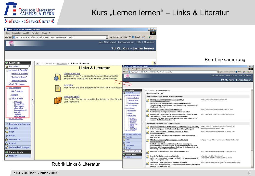 """Kurs """"Lernen lernen – Links & Literatur"""