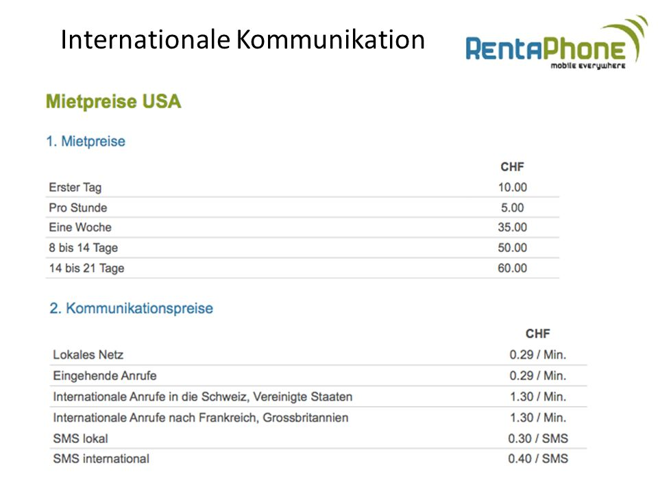 Internationale Kommunikation
