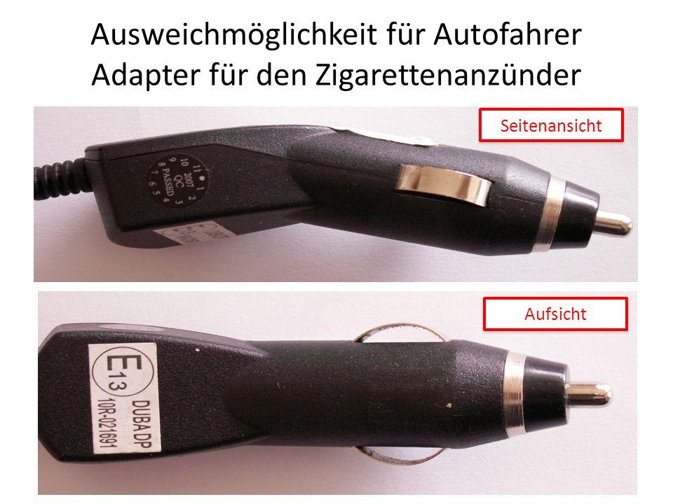 Ausweichmöglichkeit für Autofahrer Adapter für den Zigarettenanzünder