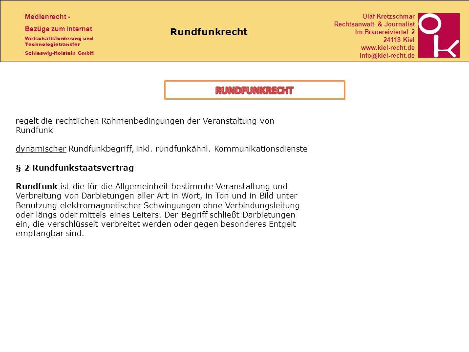 RUNDFUNKRECHT Rundfunkrecht