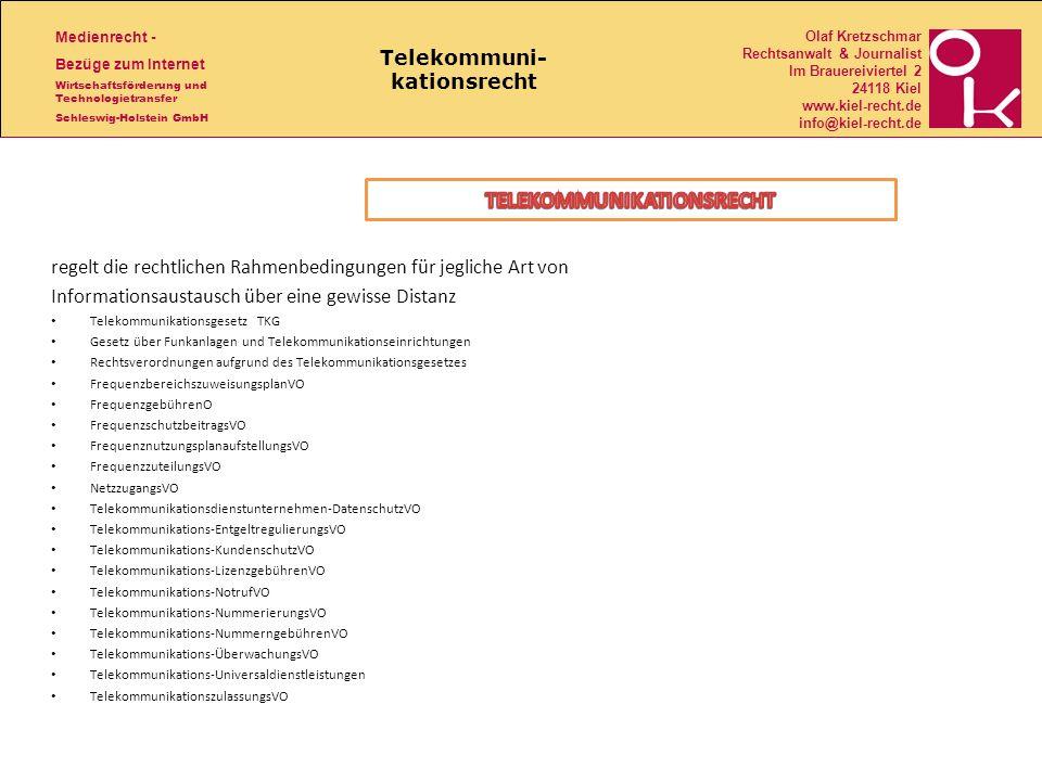 Telekommuni- kationsrecht