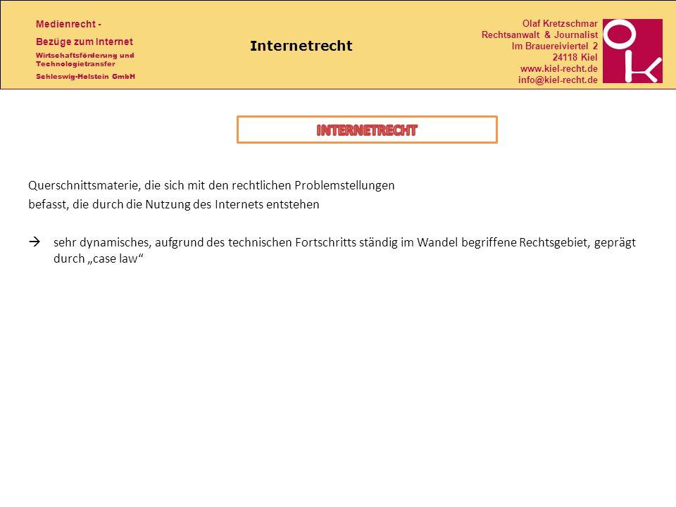 INTERNETRECHT Internetrecht