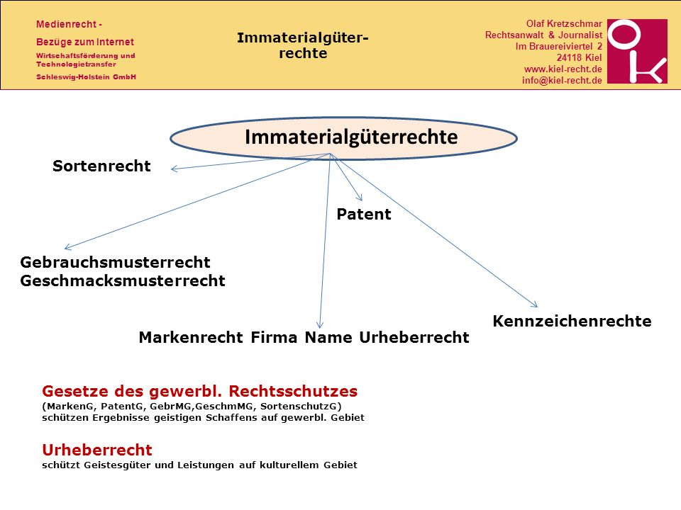 Immaterialgüter- rechte