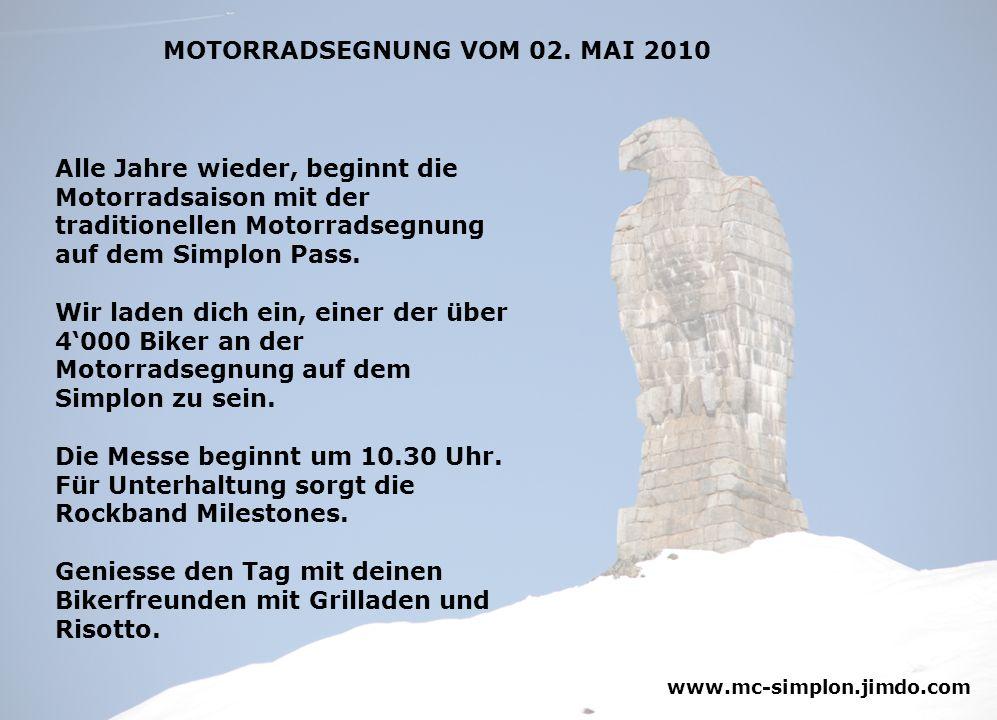 MOTORRADSEGNUNG VOM 02. MAI 2010