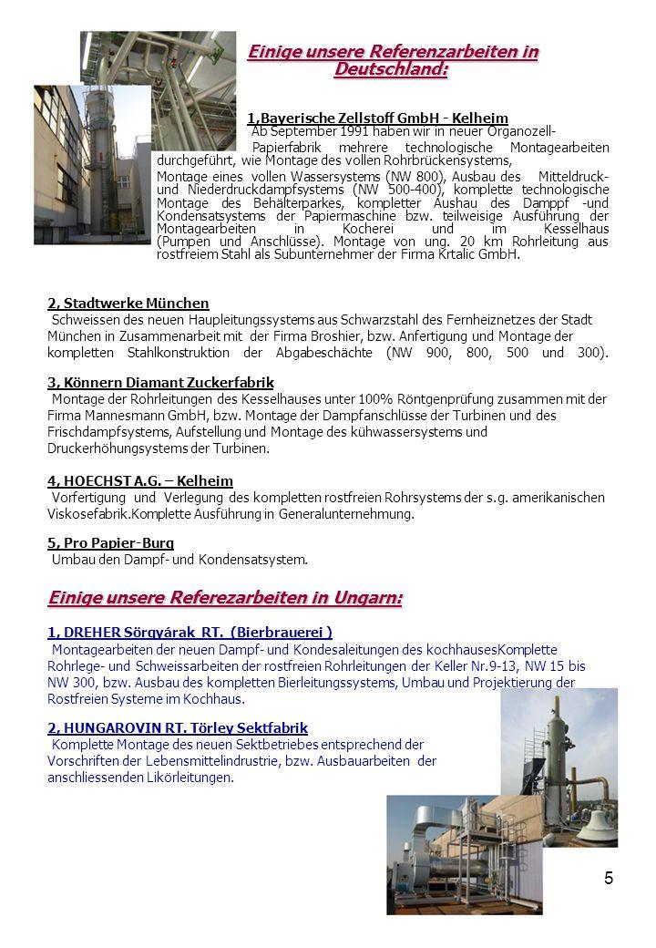 Einige unsere Referezarbeiten in Ungarn: