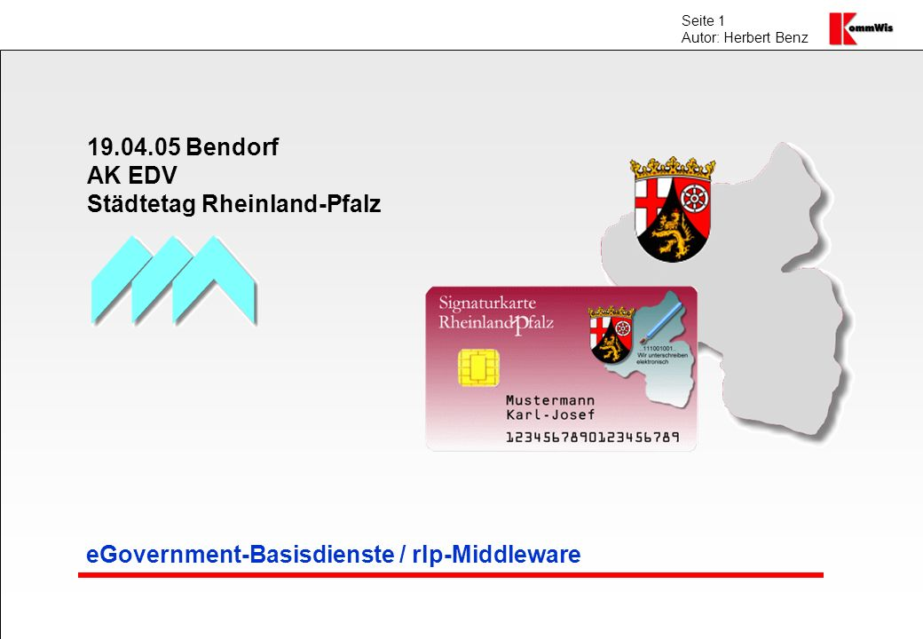 eGovernment-Basisdienste / rlp-Middleware