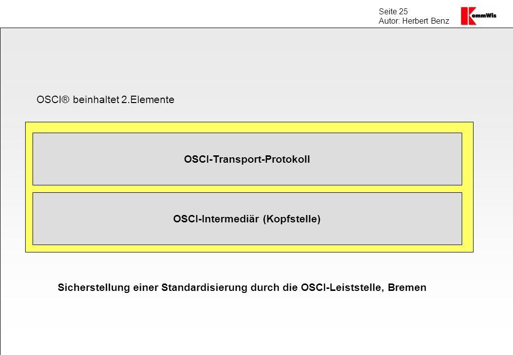 OSCI-Transport-Protokoll OSCI-Intermediär (Kopfstelle)