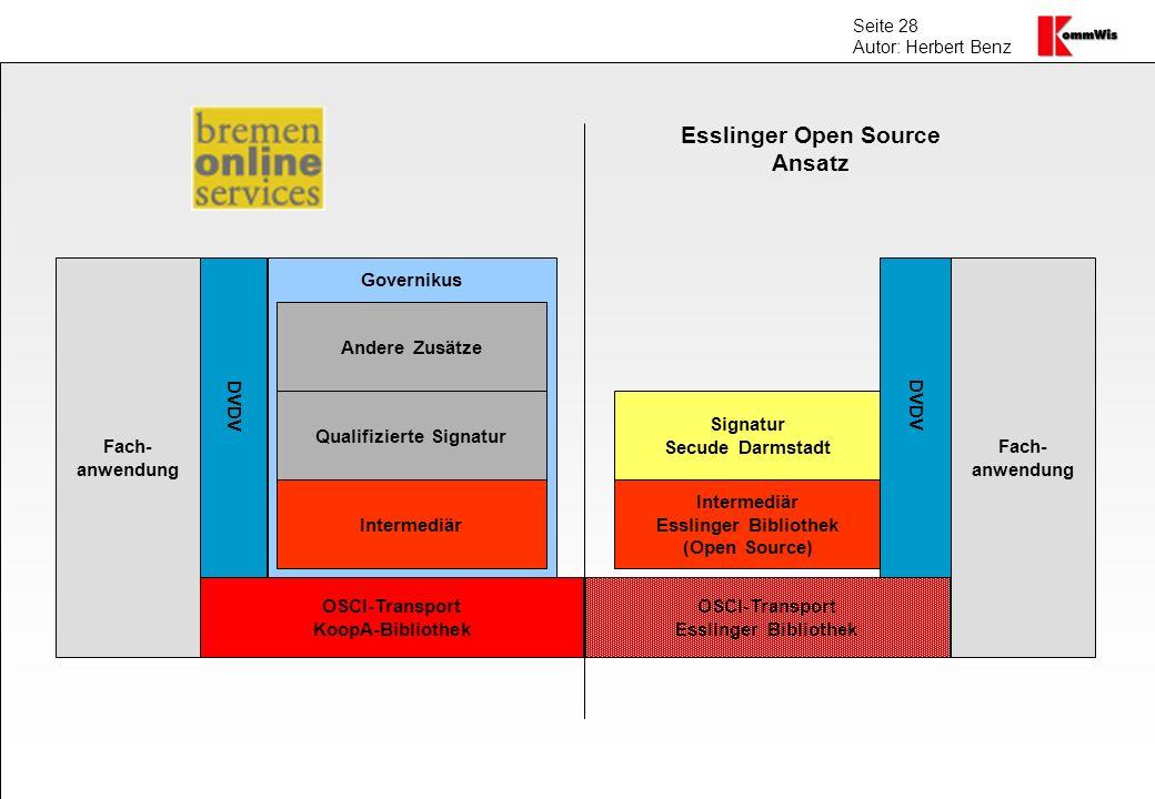 Esslinger Open Source Ansatz