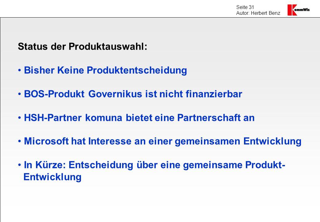 Status der Produktauswahl: