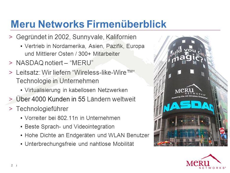 Meru Networks Firmenüberblick