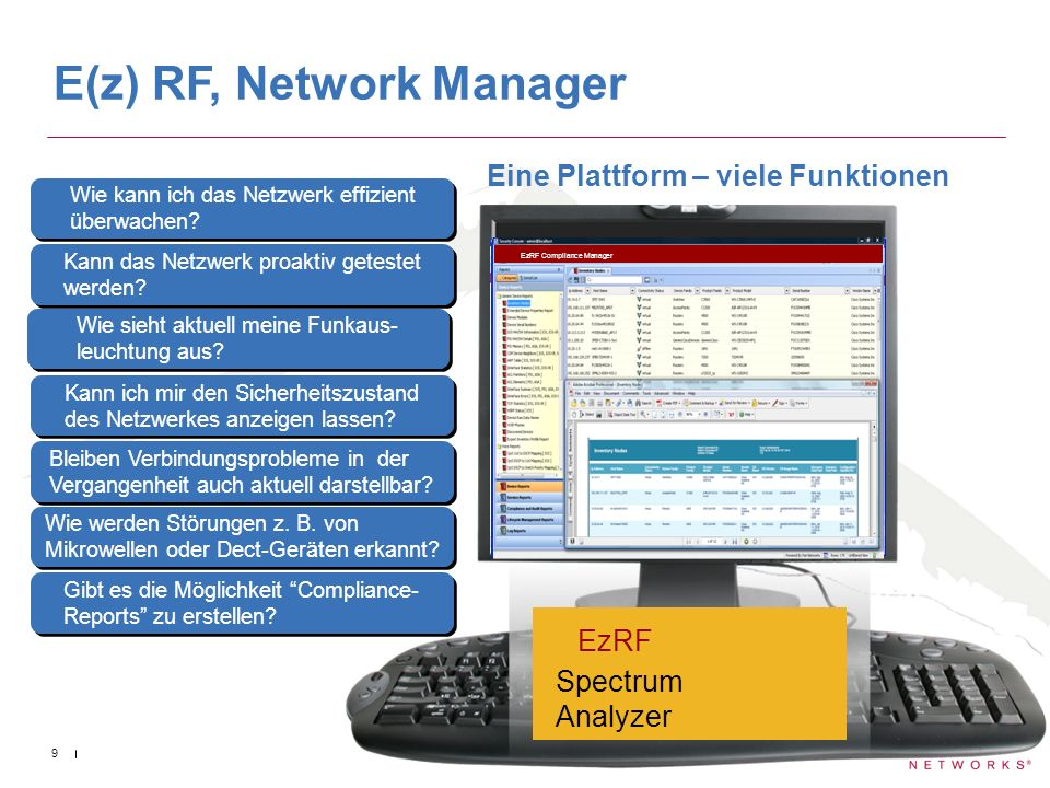 E(z) RF, Network Manager