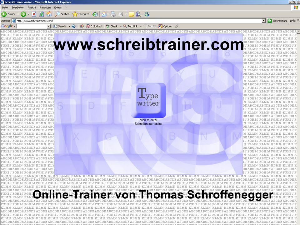 www.schreibtrainer.com Online-Trainer von Thomas Schroffenegger