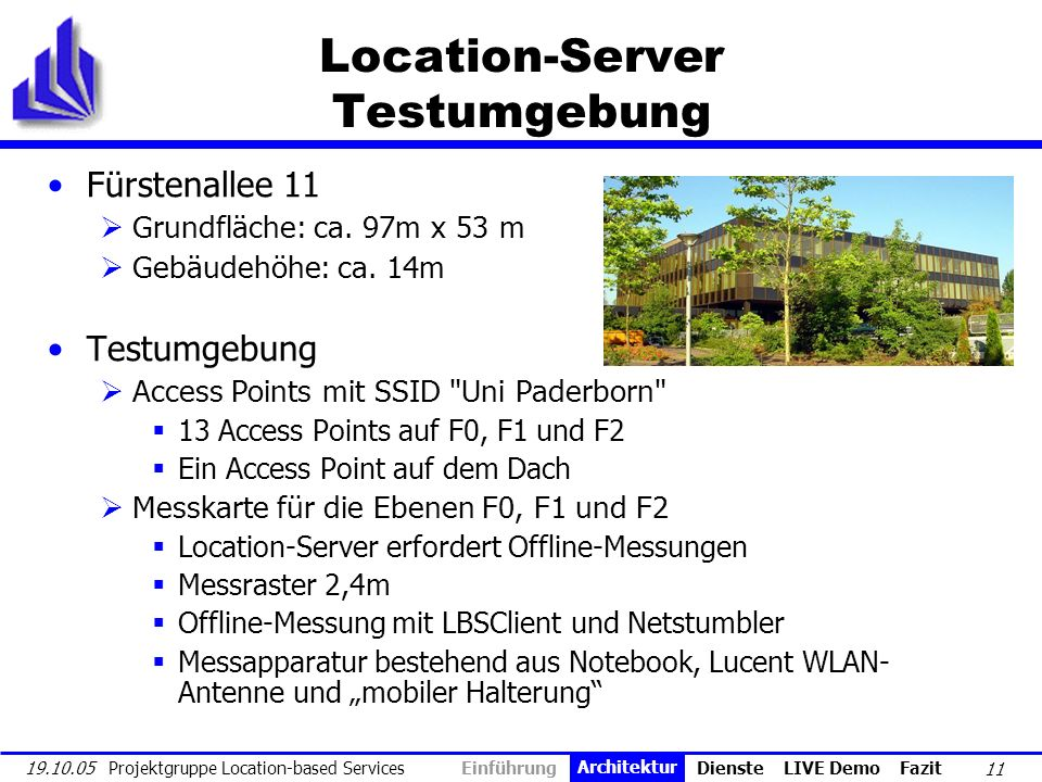 Location-Server Testumgebung