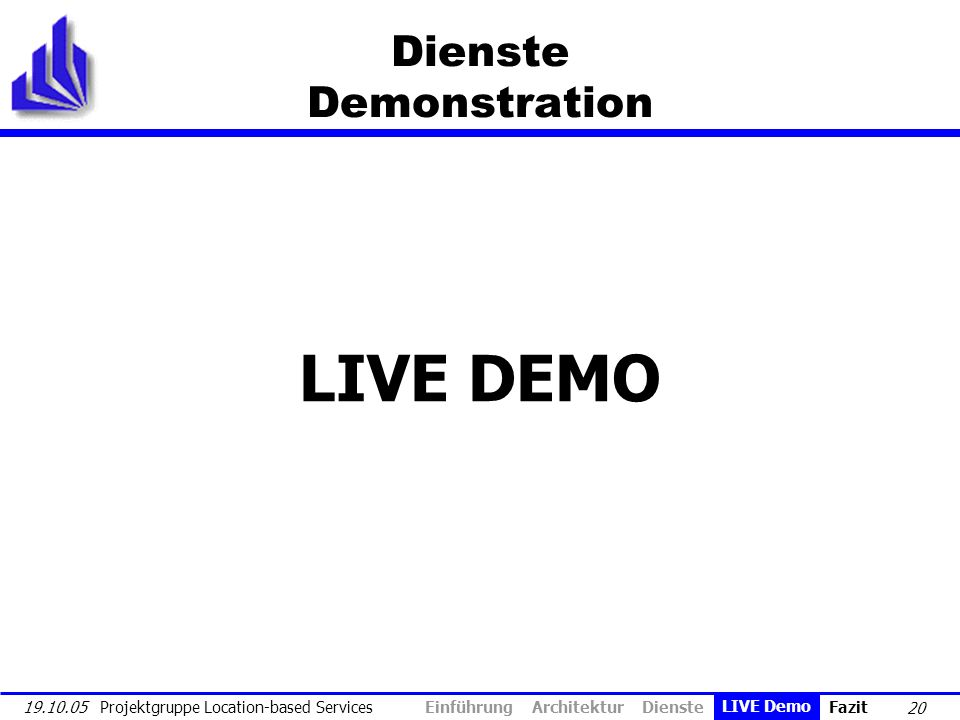 Dienste Demonstration