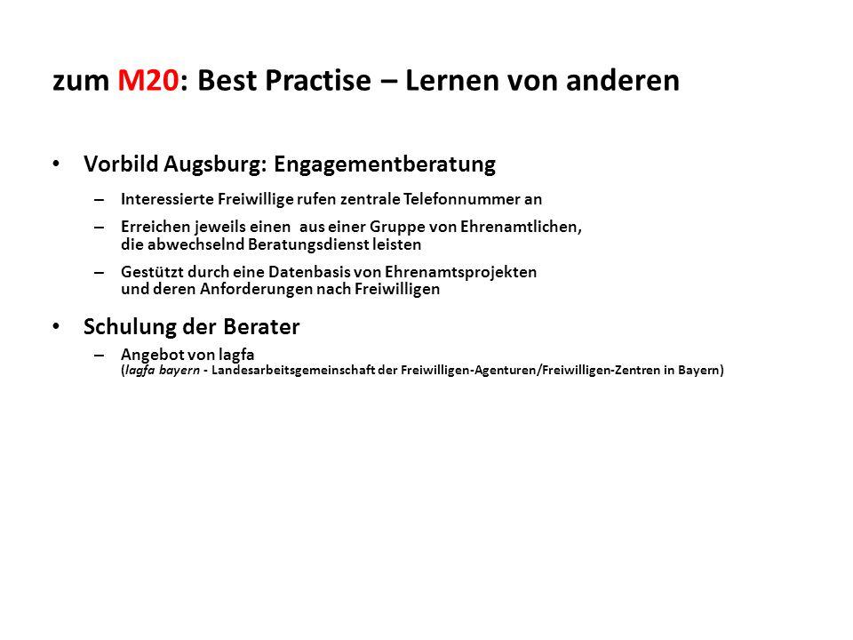 zum M20: Best Practise – Lernen von anderen