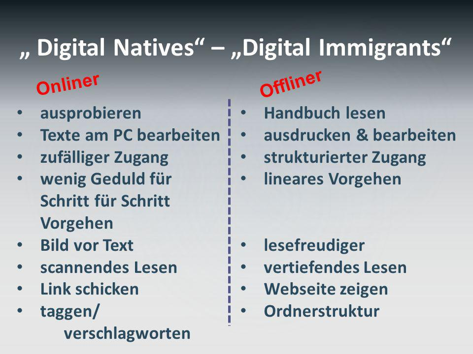 """ Digital Natives – ""Digital Immigrants"