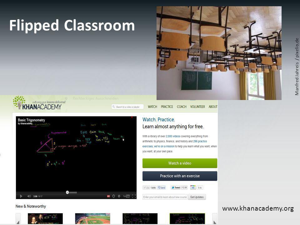 Flipped Classroom Manfred Jahreis / pixelio.de www.khanacademy.org