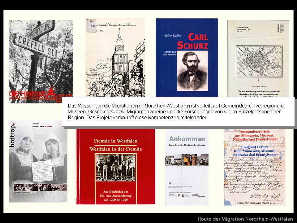 Das Wissen um die Migrationen in Nordrhein-Westfalen ist verteilt auf Gemeindearchive, regionale Museen, Geschichts- bzw.