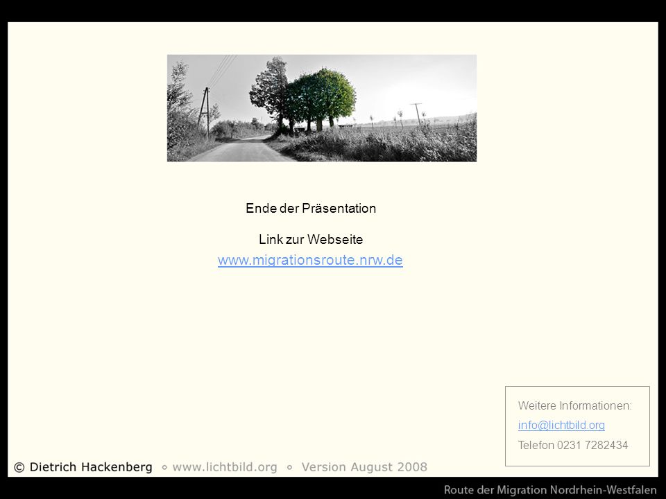 www.migrationsroute.nrw.de Ende der Präsentation Link zur Webseite