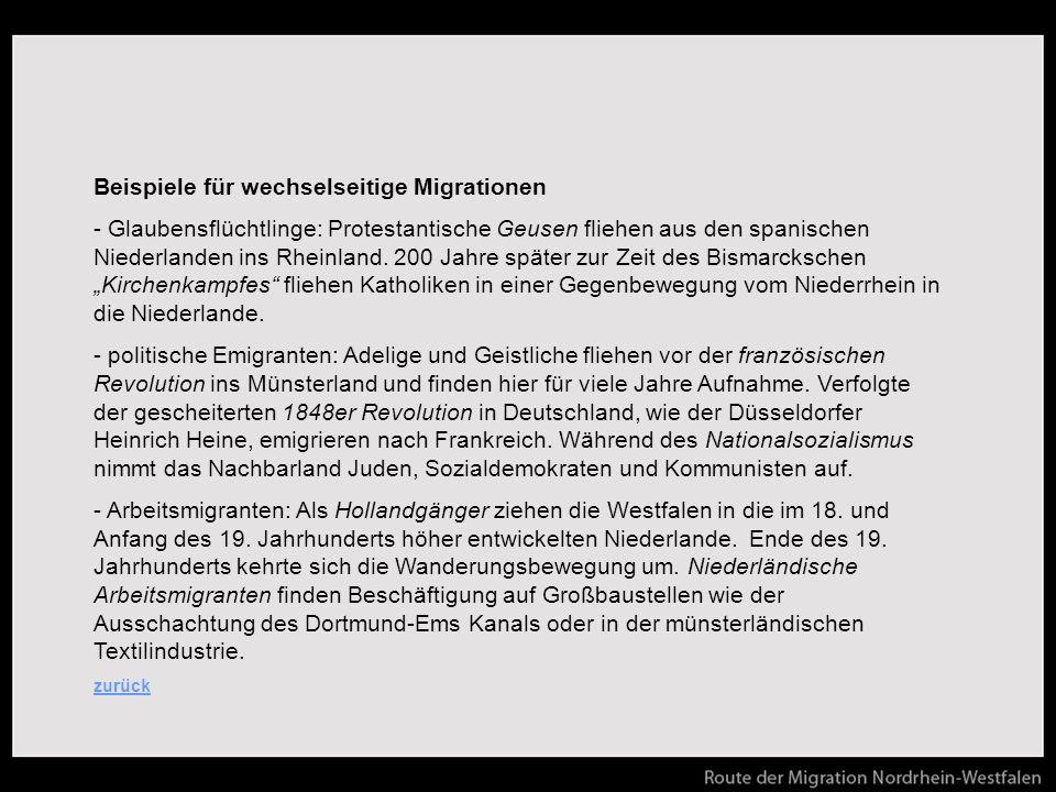 Beispiele für wechselseitige Migrationen