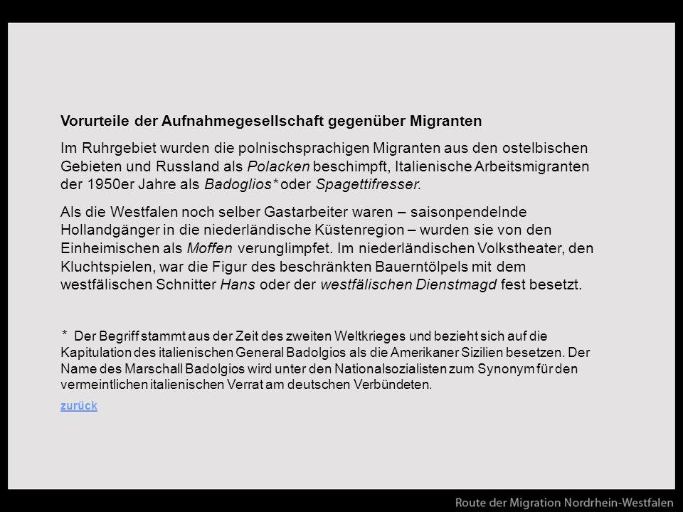 Vorurteile der Aufnahmegesellschaft gegenüber Migranten