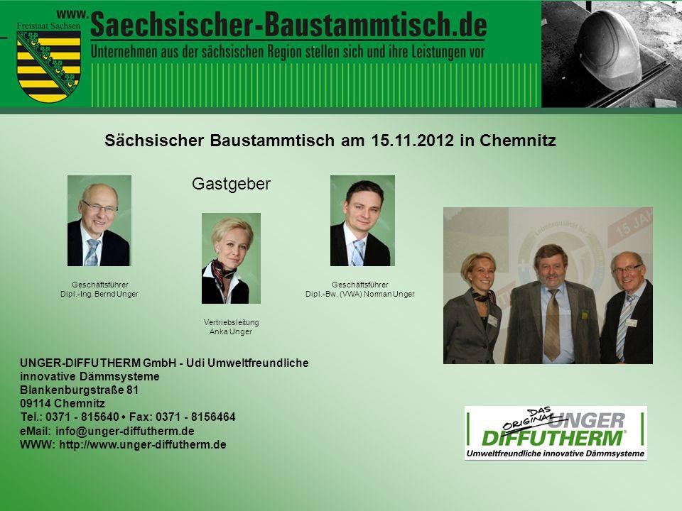 Sächsischer Baustammtisch am 15.11.2012 in Chemnitz
