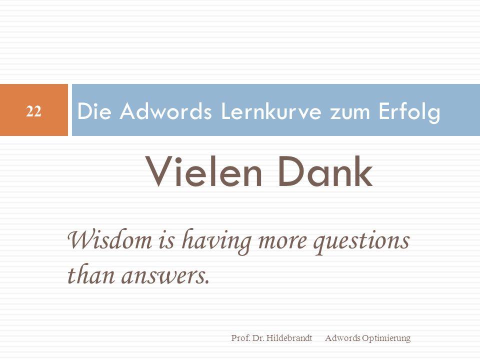 Die Adwords Lernkurve zum Erfolg