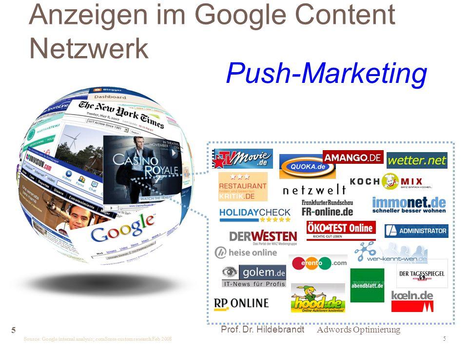 Anzeigen im Google Content Netzwerk