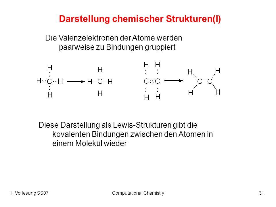 Darstellung chemischer Strukturen(I)
