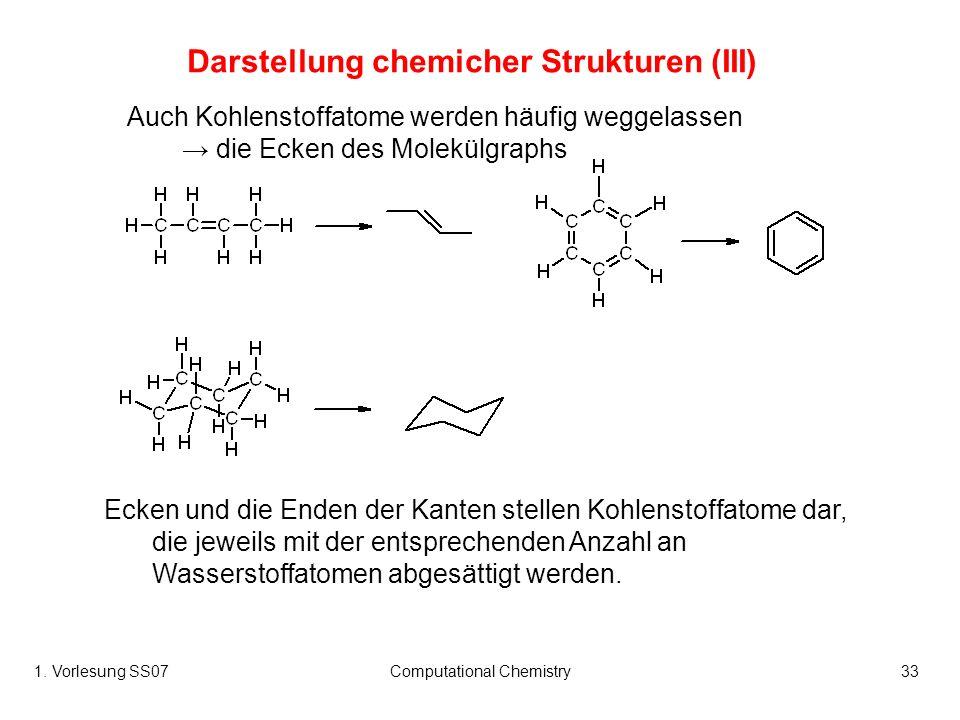Darstellung chemicher Strukturen (III)
