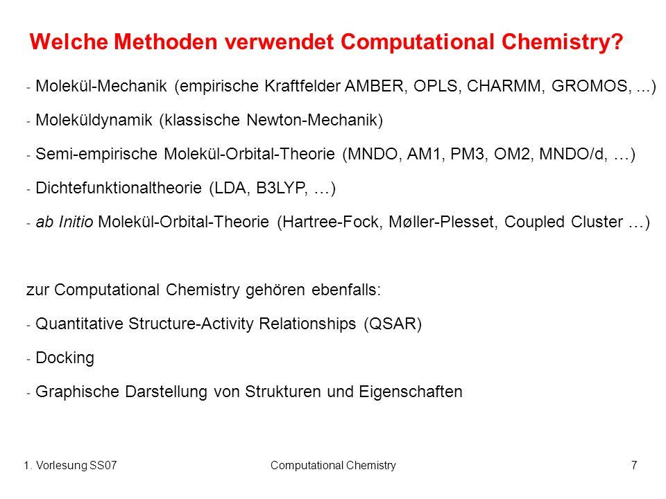 Welche Methoden verwendet Computational Chemistry