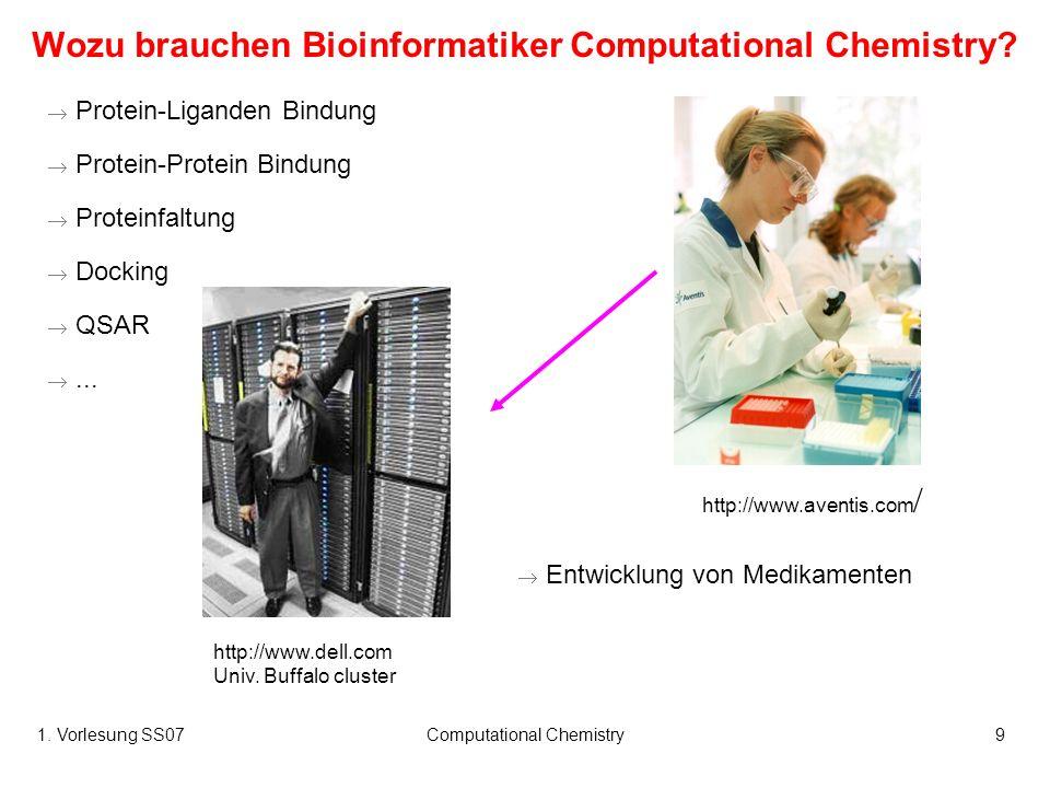 Wozu brauchen Bioinformatiker Computational Chemistry