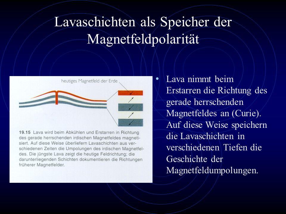 Lavaschichten als Speicher der Magnetfeldpolarität