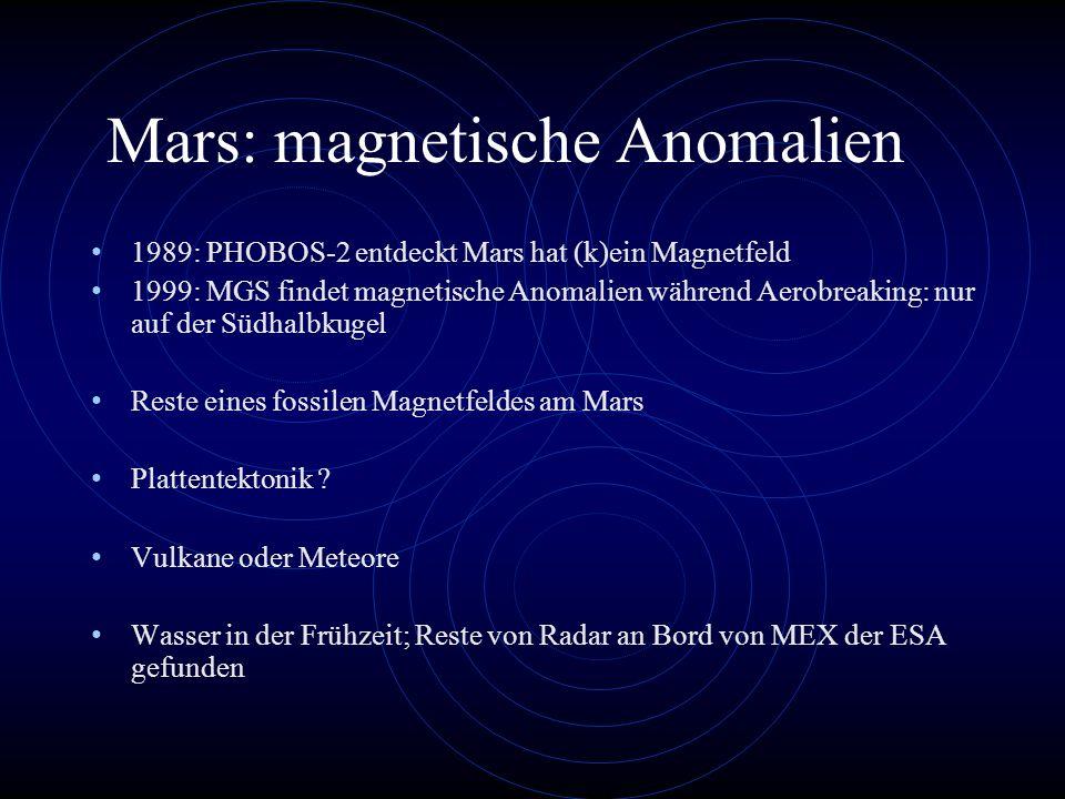 Mars: magnetische Anomalien