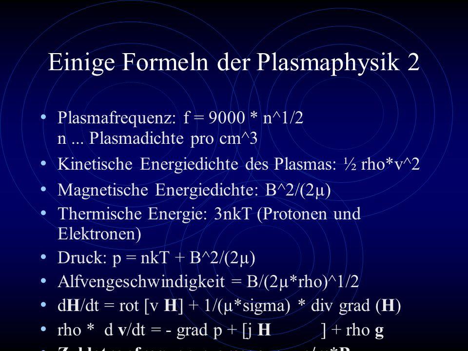 Einige Formeln der Plasmaphysik 2