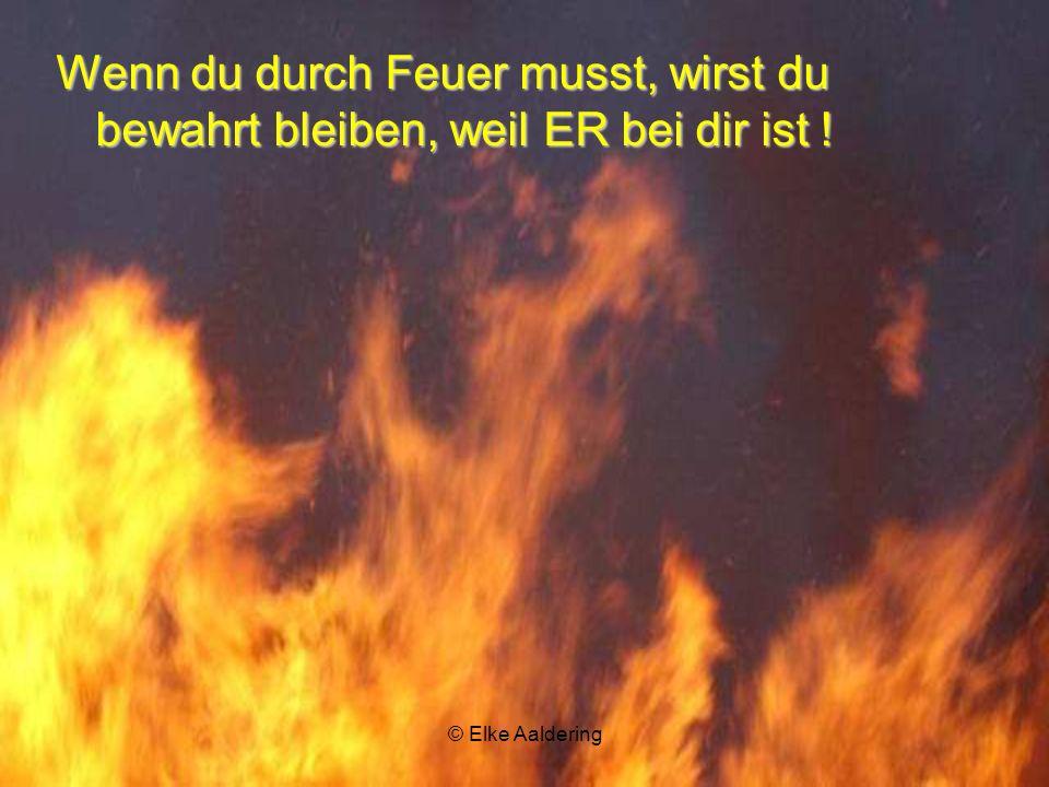 Wenn du durch Feuer musst, wirst du bewahrt bleiben, weil ER bei dir ist !
