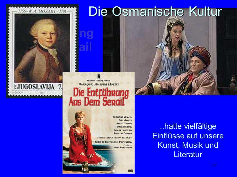 ..hatte vielfältige Einflüsse auf unsere Kunst, Musik und Literatur