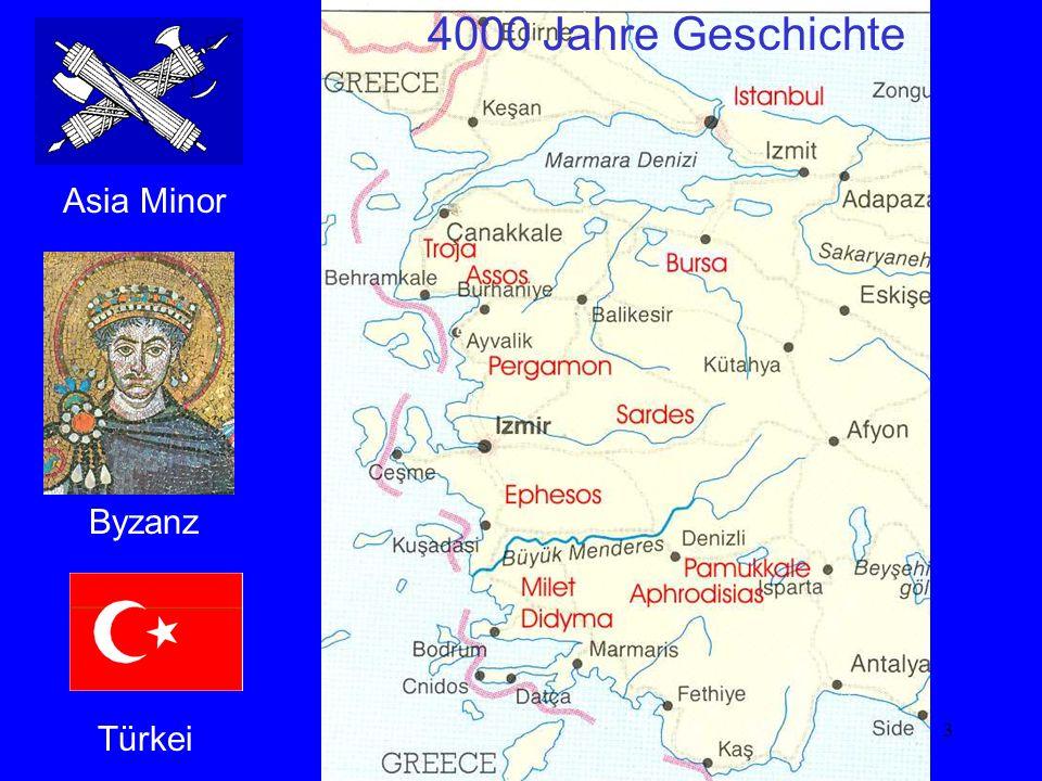 Karte 4000 Jahre Geschichte Asia Minor Byzanz Türkei