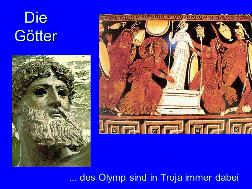 Die Götter ... des Olymp sind in Troja immer dabei