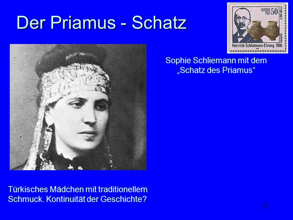 """Sophie Schliemann mit dem """"Schatz des Priamus"""