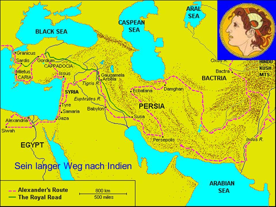 Der Weg nach Indien Sein langer Weg nach Indien