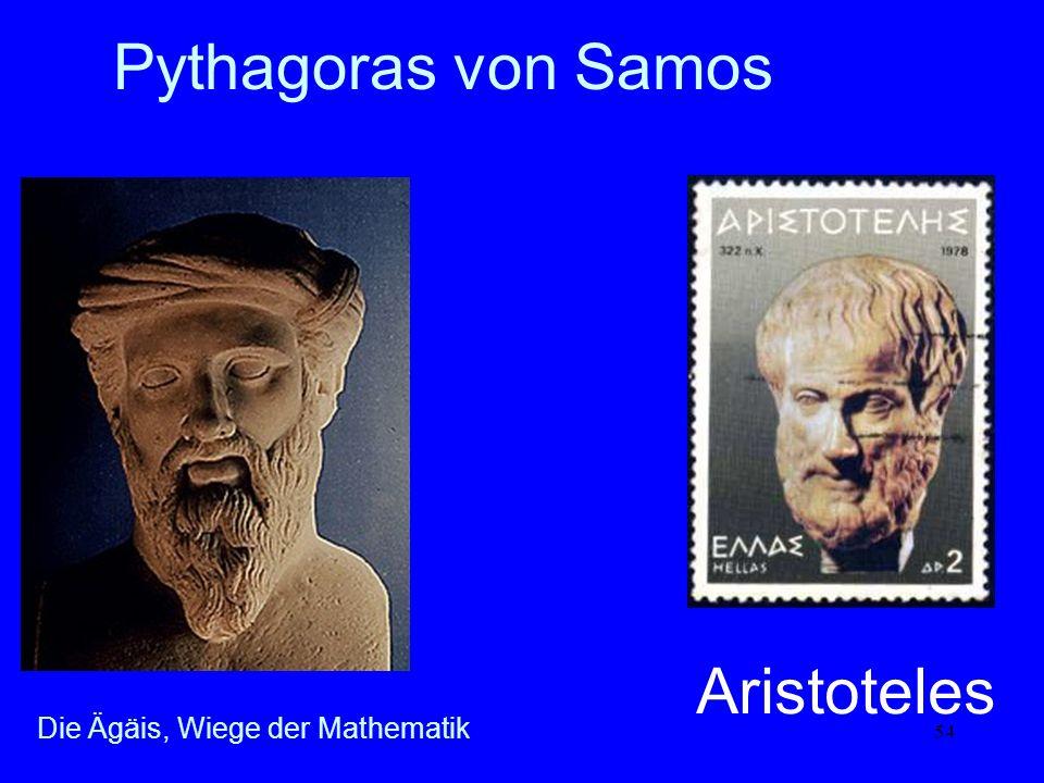 Pythagoras von Samos Aristoteles Die Ägäis, Wiege der Mathematik