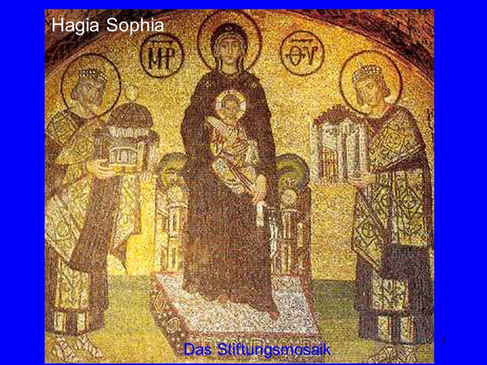 Hagia Sophia Das Stiftungsmosaik