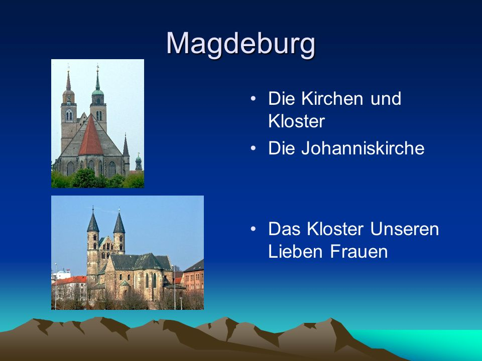 Magdeburg Die Kirchen und Kloster Die Johanniskirche