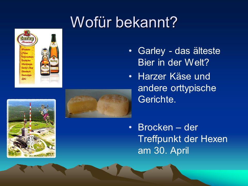 Wofür bekannt Garley - das älteste Bier in der Welt