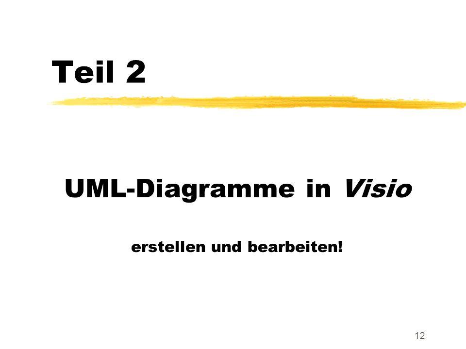 UML-Diagramme in Visio erstellen und bearbeiten!