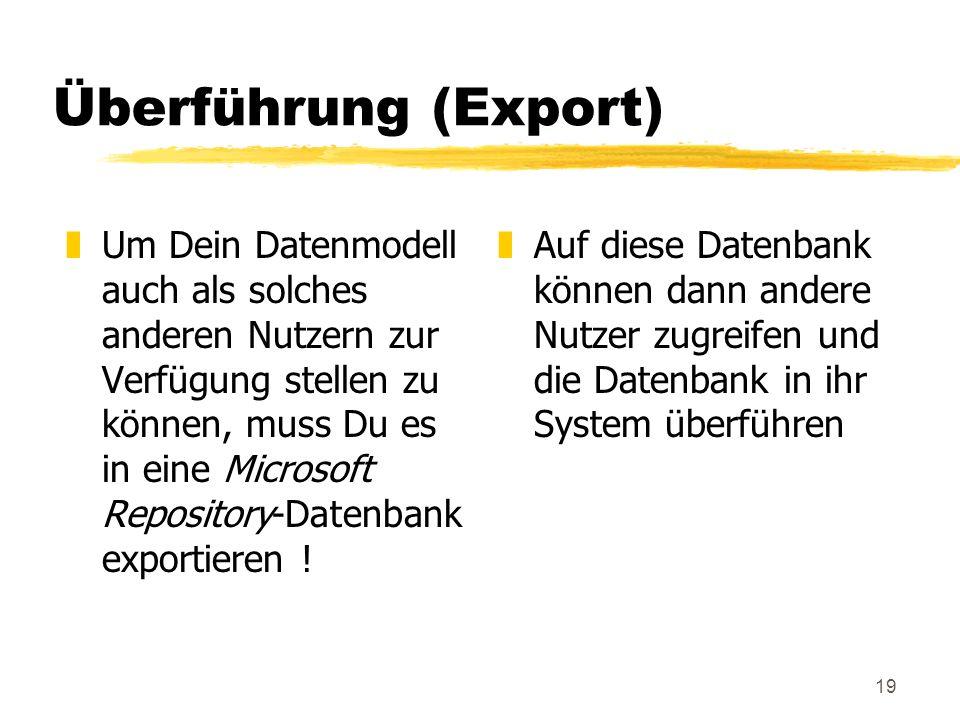 Überführung (Export)